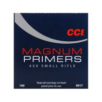CCI PRIMER 450 SMALL RIFLE MAG 100/bx