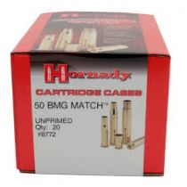 HORNADY 50BMG CASES MATCH GRADE UNPRIMED 20/box