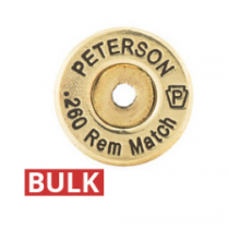 Peterson Brass 260 Remington Unprimed Bulk Bag of 100