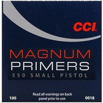 CCI PRIMER 550 SMALL PISTOL MAG 100/bx