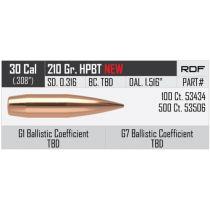 NOSLER 30 (.308) 210gr HPBT BULLET RDF 100/bx